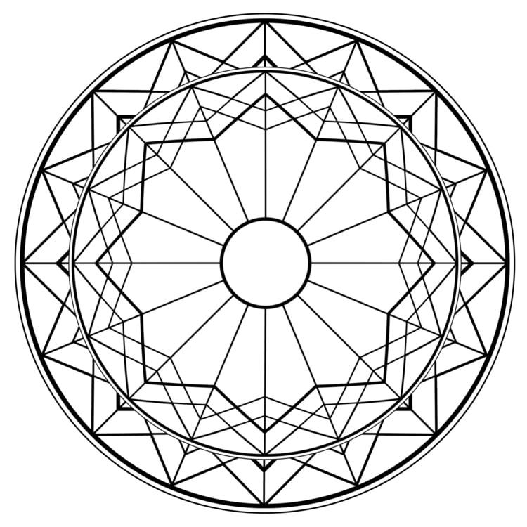 Mandalas zum Ausdrucken Scherben Stern
