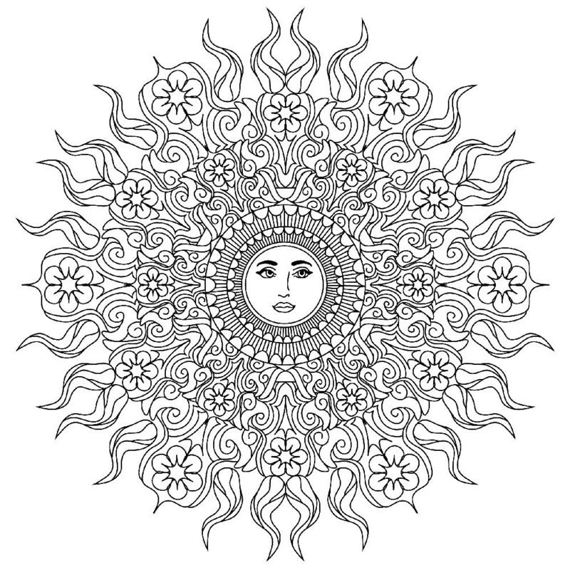 Mandalas zum Ausdrucken Sonnenmuster