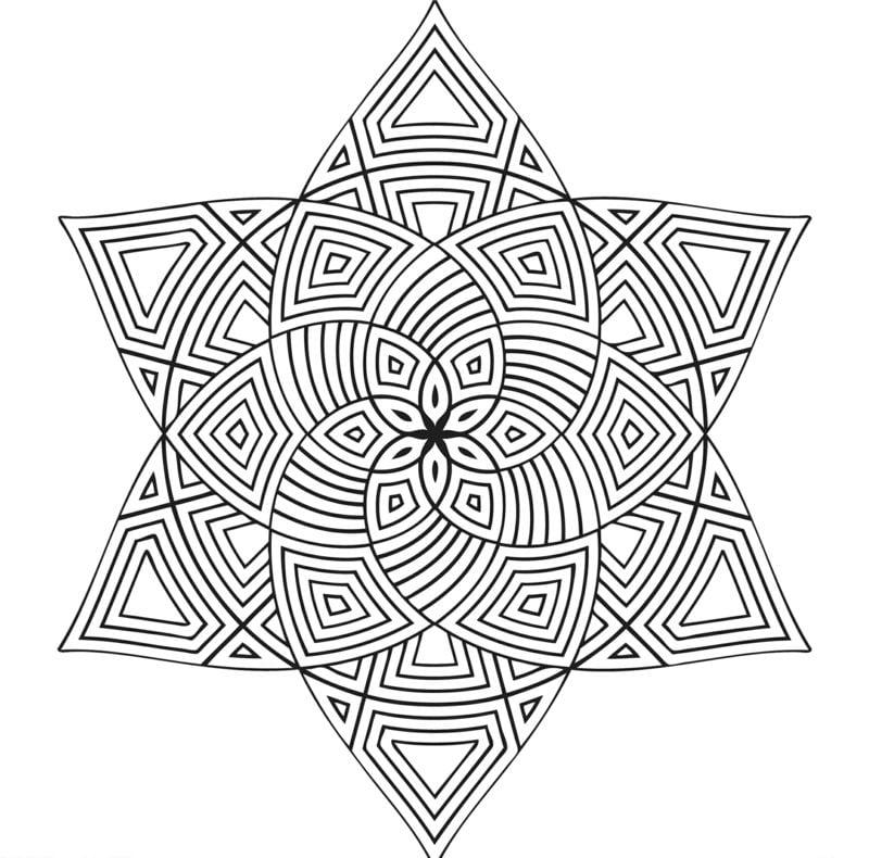 Mandalas zum Ausdrucken Stern Blume