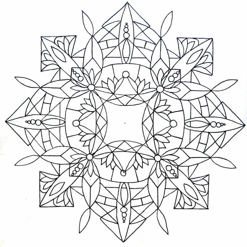 Mandalas zum Ausdrucken abstrakt geometrisch
