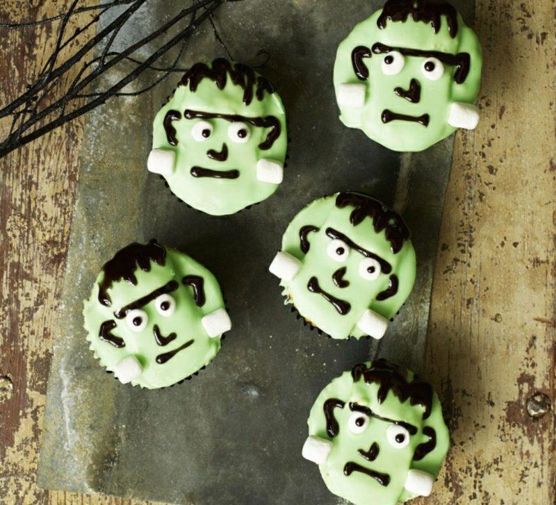 Halloween Muffins Rezept Frankenstein