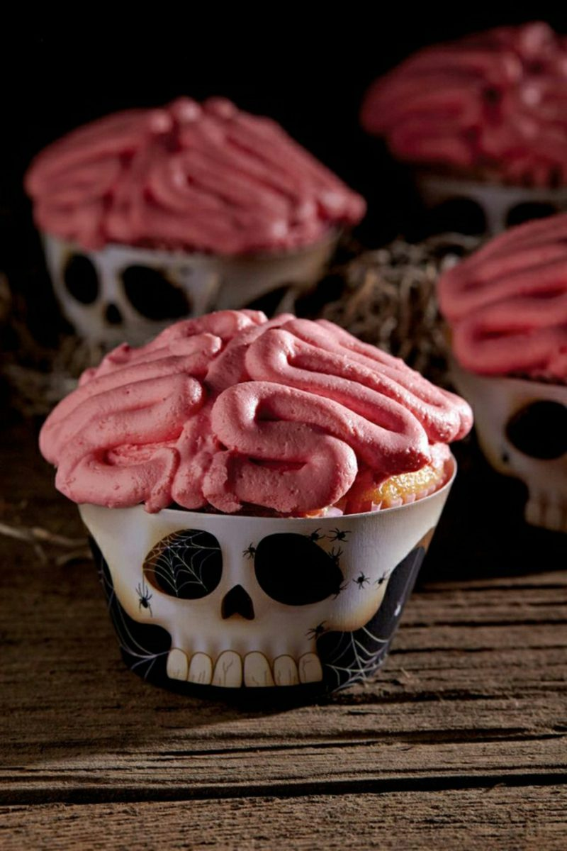 Halloween Muffins Rezept Gehirn