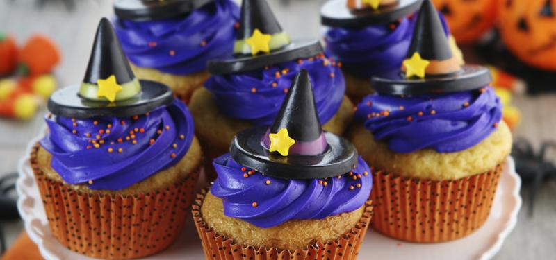 Halloween Muffins Rezept originell Hexenhut