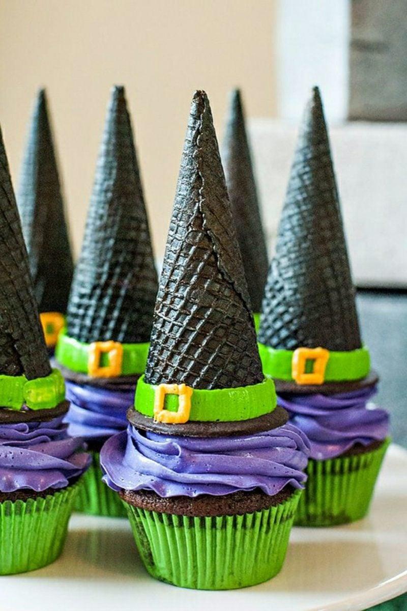 Halloween Muffins Rezept Hexenhüte