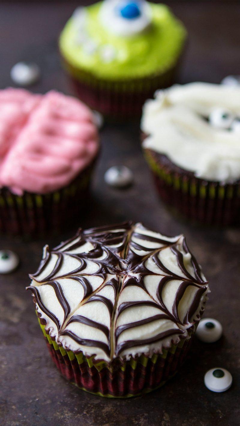 Halloween Muffins Rezept Spinnennetz toller Look