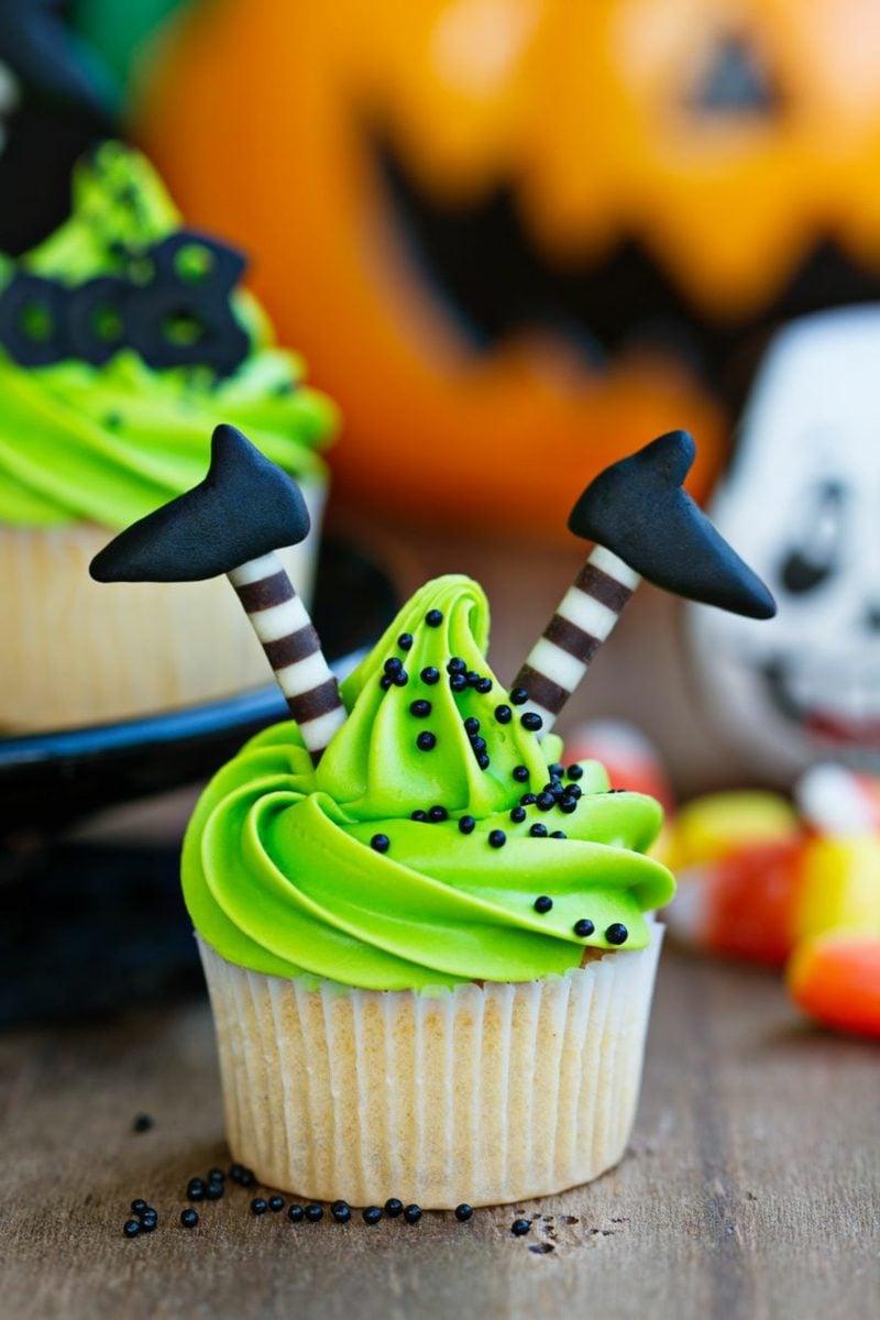 Halloween Muffins Rezept originelle Dekoideen