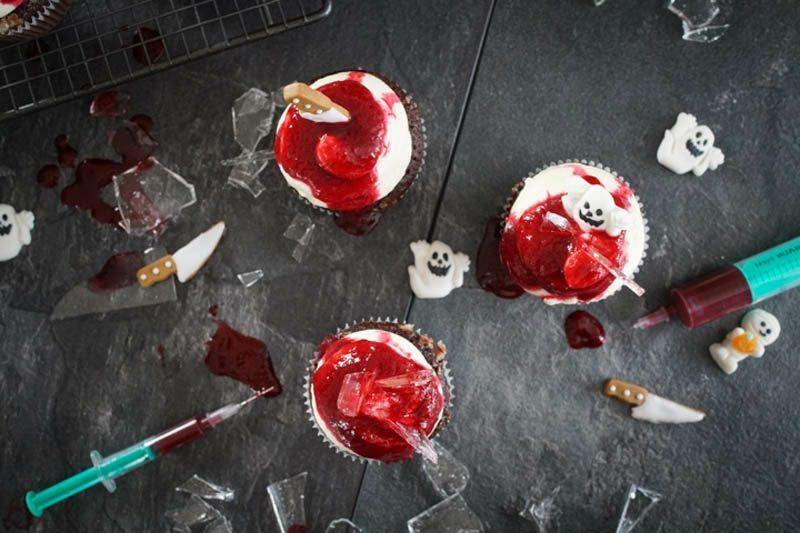 Halloween Muffins Rezept herrliche Dekoideen schaurig