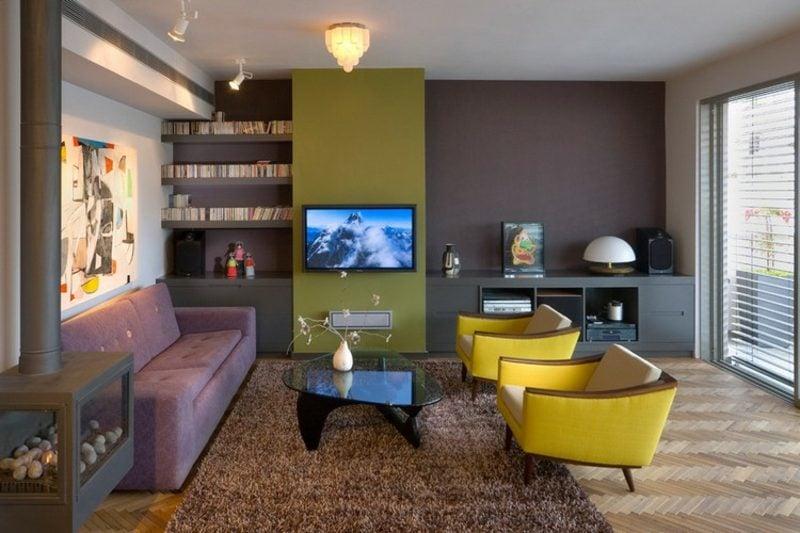 Farbe Salbei vs Olivgrün Akzente Wohnzimmer