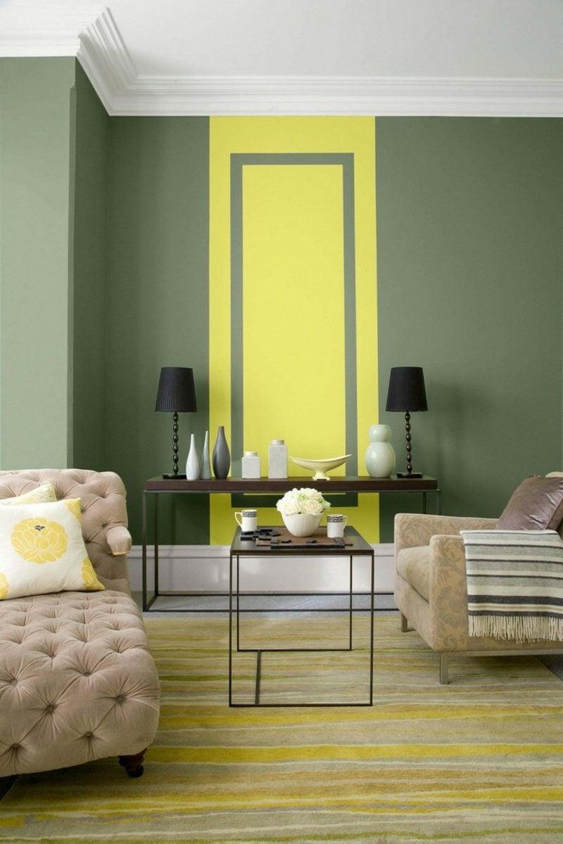 Olivgrün und Gelb kombinieren