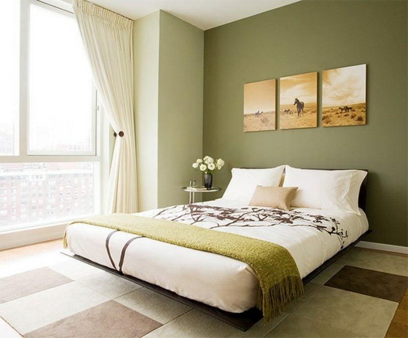 Farbe Salbei vs Olivgrün Schlafzimmer