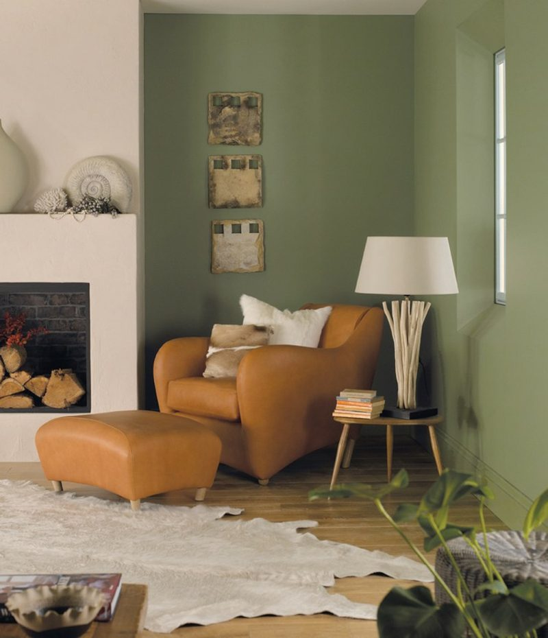 Farbe Salbei vs Olivgrün Wohnzimmer