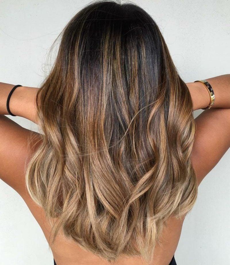 Ombre Braun Haartrends 2018