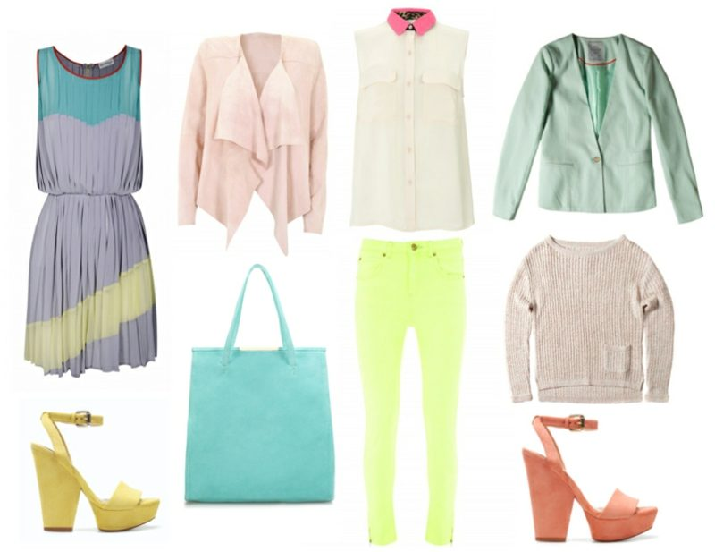 welche Farben passen zusammen Pastellfarben Mode