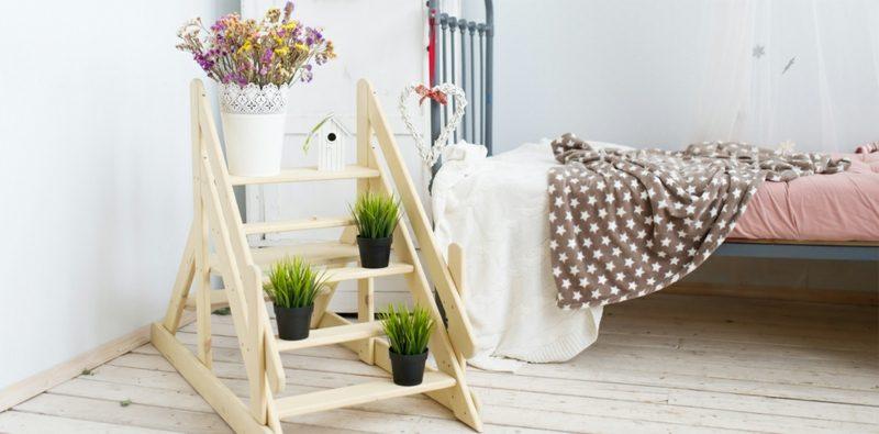 Pflanzen im Schlafzimmer arrangieren originelle Ideen