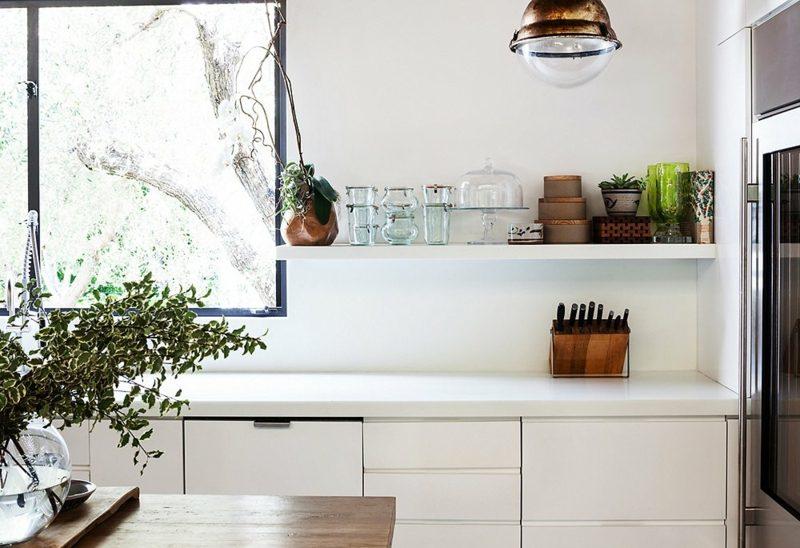 Küchenregale offen weiss schwer bemerkbar
