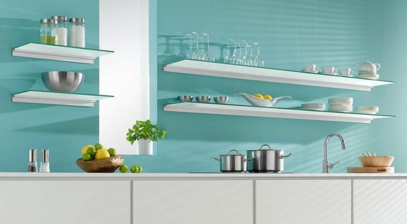 Küchenregale stilvoll minimalistische Einrichtung