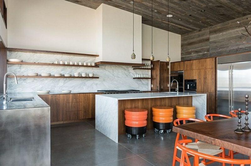 Küchenregale minimalistisch stilvoll