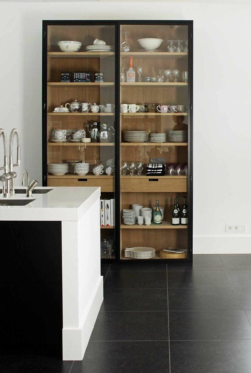 Küchenregale System Glas Holz