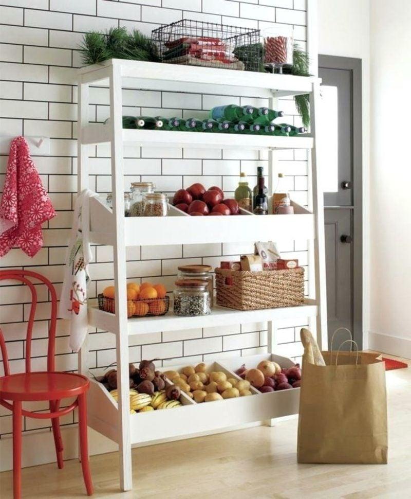 Küchenregale Kunststoff minimalistisch weiss