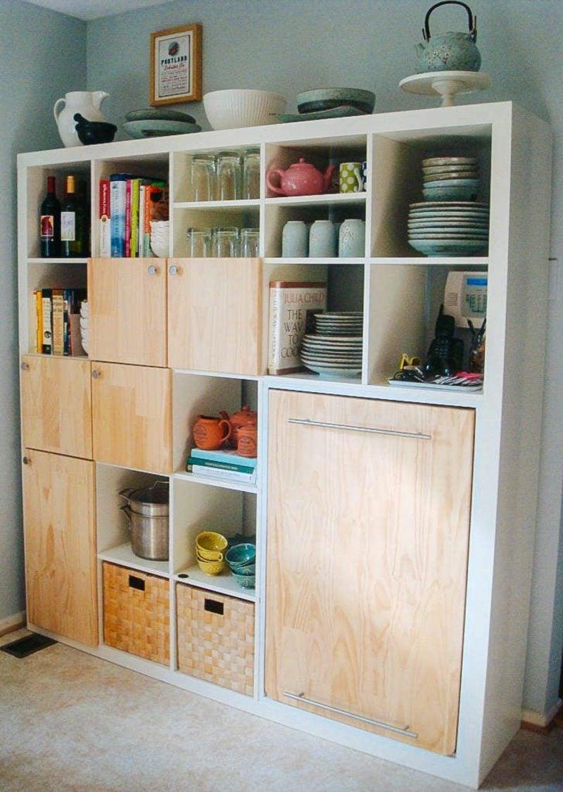 Küchenregale Kallax Ikea funktional minimalistisch