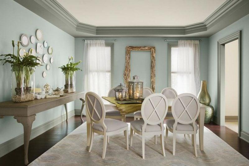 Farbe Salbei Esszimmer