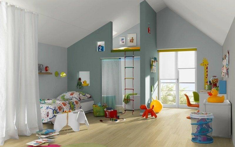 Farbe Salbei und Grau Kinderzimmer