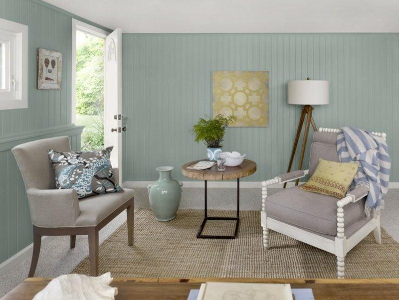 Farbe Salbei Wohnzimmer rustikal