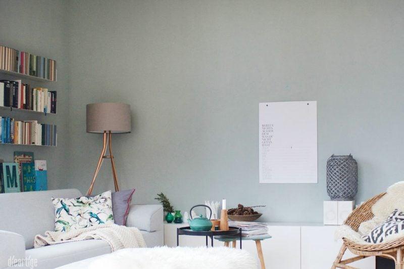 Farbe Salbei stilvoll Wohnzimmer
