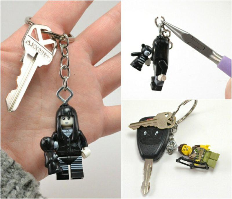 Schlüsselanhänger selber machen Lego Figuren