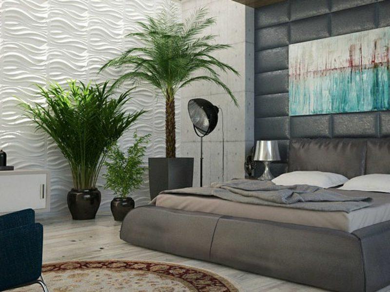 Pflanzen im Schlafzimmer modernes Interieur