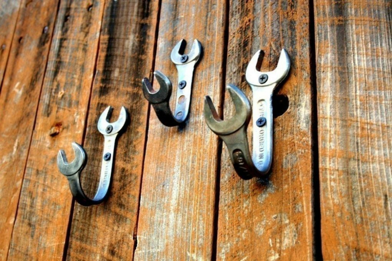 Kleiderhaken selber machen Schraubenschlüssel