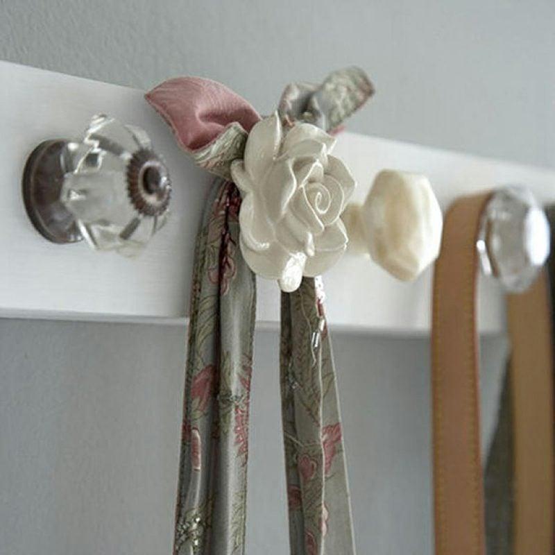 Kleiderhaken selber machen Knöpfe Schubladen