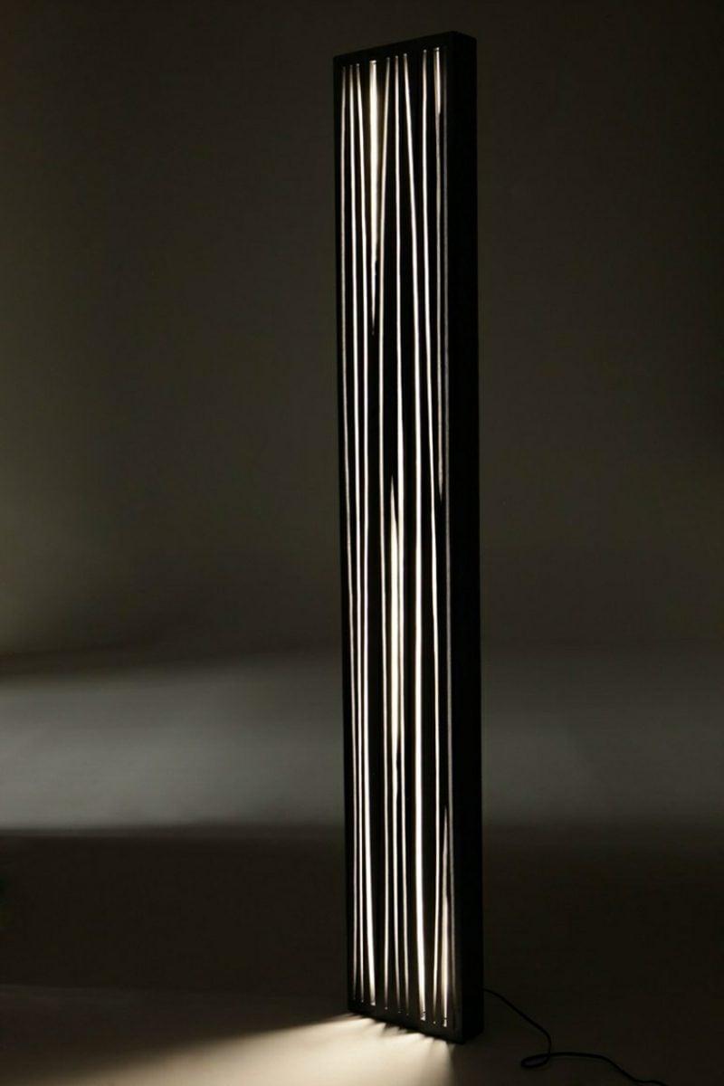 Stehlampen modern Eichenholz edles Design