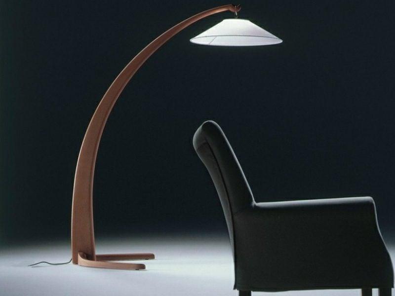Stehlampen modern Holz Leseecke