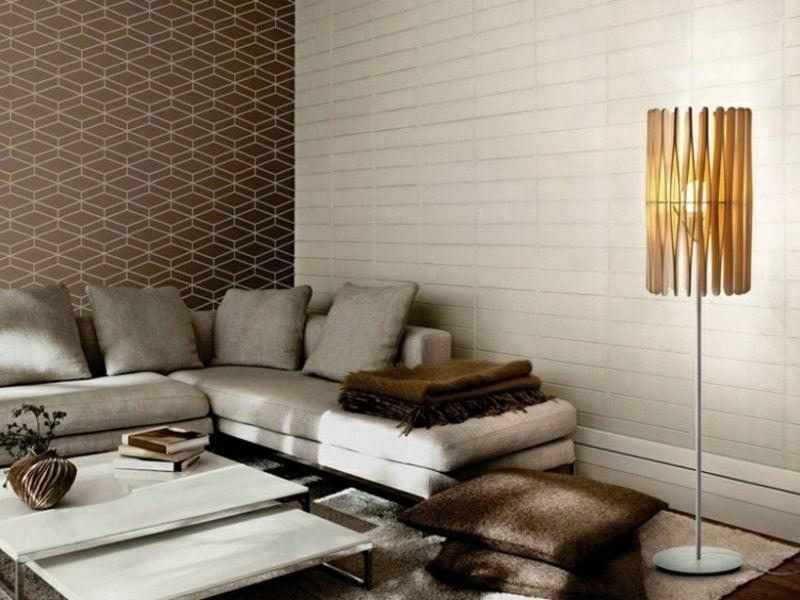 Stehlampen modern Holzschirm