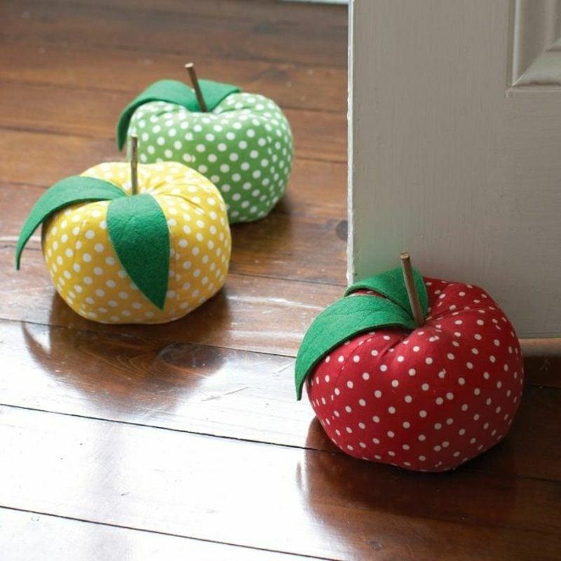 Türstopper nähen originell Apfel