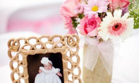 Tischdeko Taufe Fotos Blumen