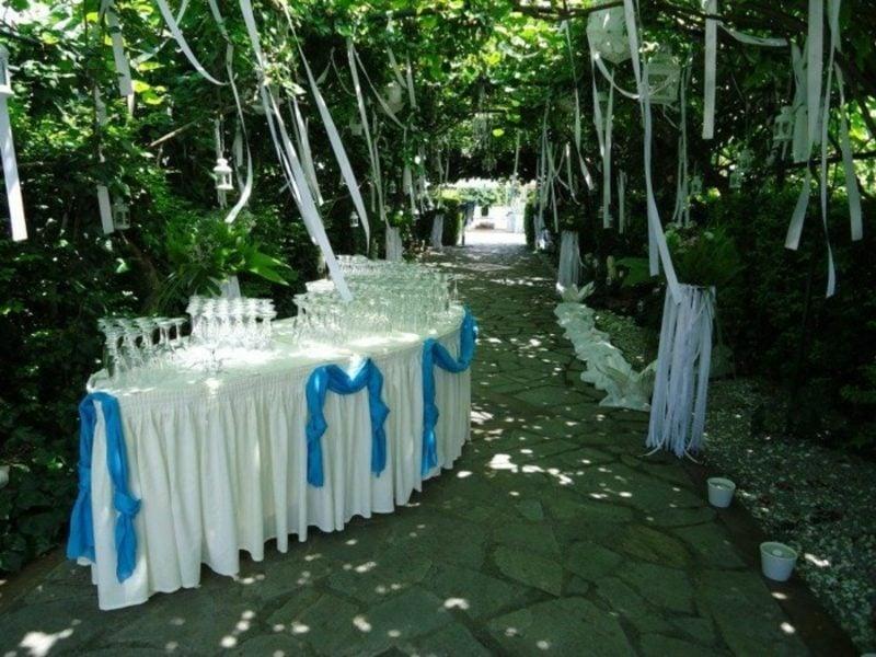 Tischdeko Taufe Gartenparty