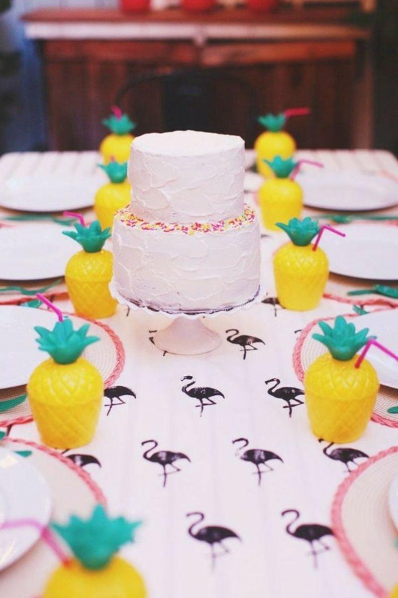 Tischdeko Taufe kleine Torte