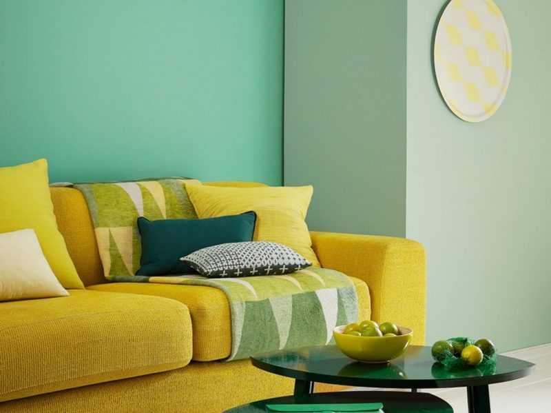 Farbe Salbei modern Wandgestaltung