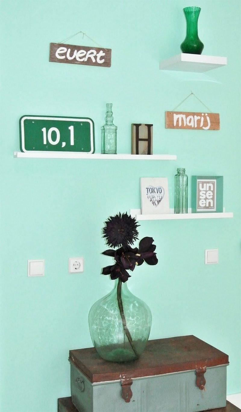 Farbe Salbei vs Minzgrün Wandgestaltung