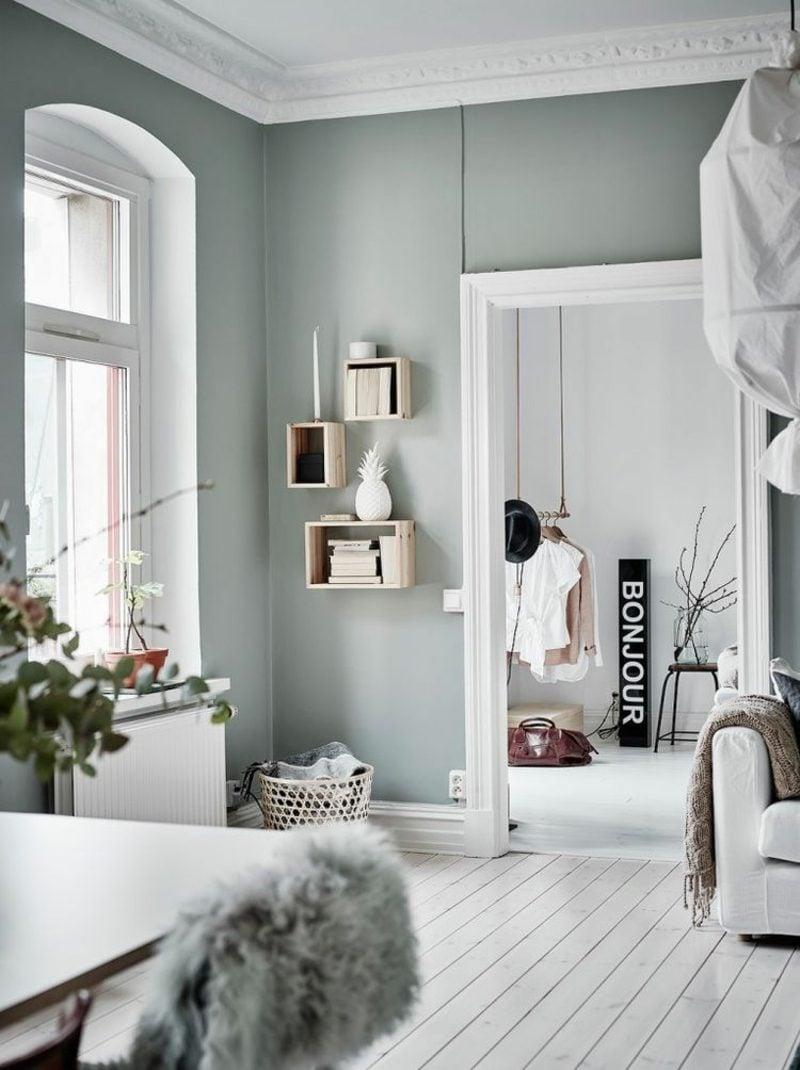 Farbe Salbei angesagter Farbton Wandgestaltung