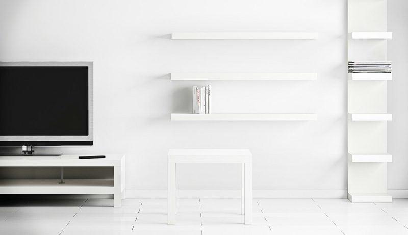 IKEA Wandregal Lack weiss stilvoll unbemerkbar