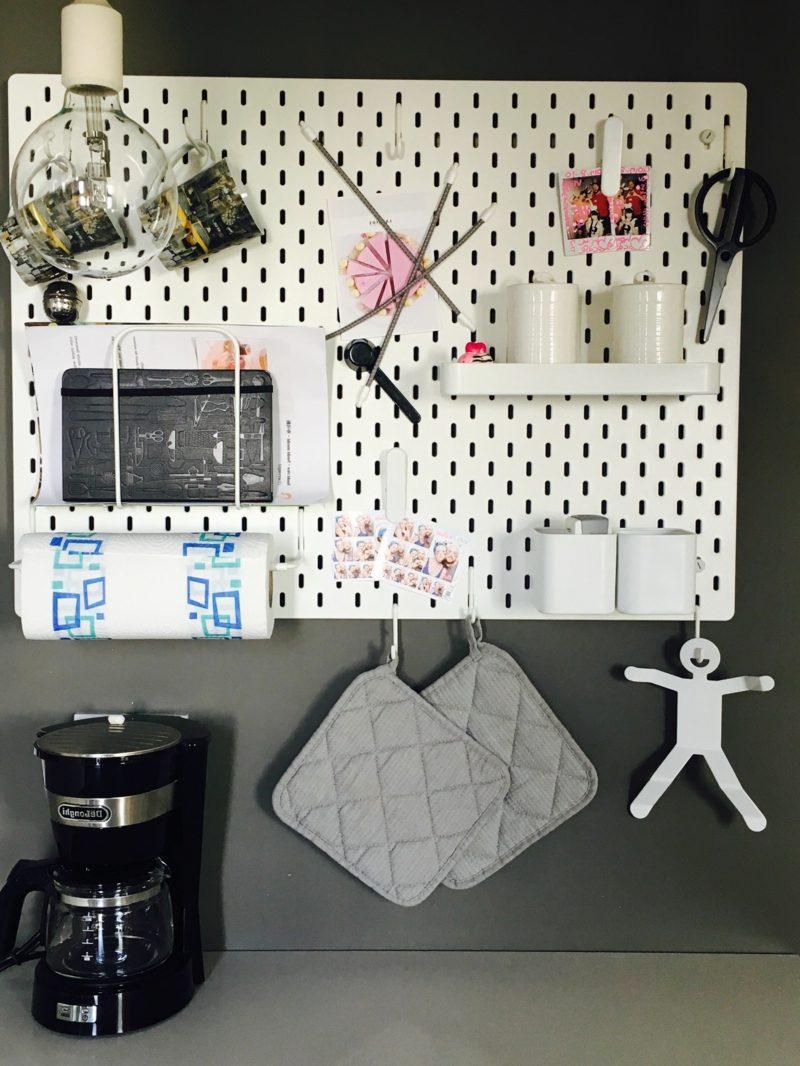 IKEA Wandregal Modell Skadis origineller Look