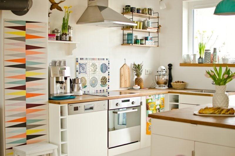 Küchenregale schlichtes Design praktisch Ikea