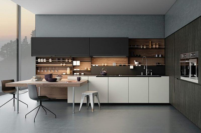 Küchenregale minimalistische Einrichtung