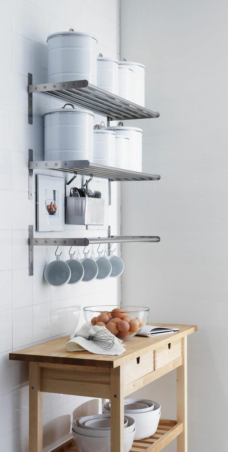Küchenregale Metall Ikea minimalistisch