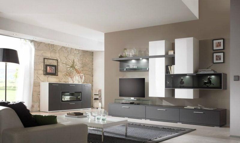 Wohnzimmer farblich gestalten helles Schokoladenbraun