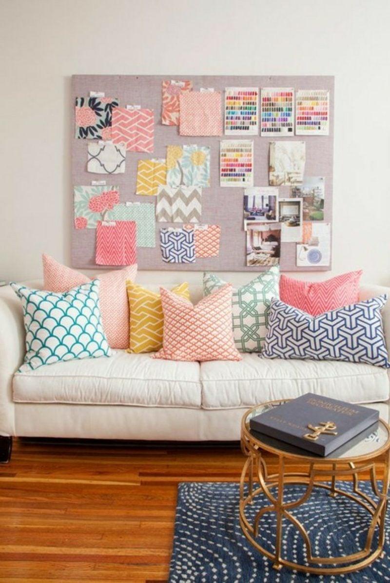 Wohnzimmer farblich gestalten Pastellfarben stilvoll