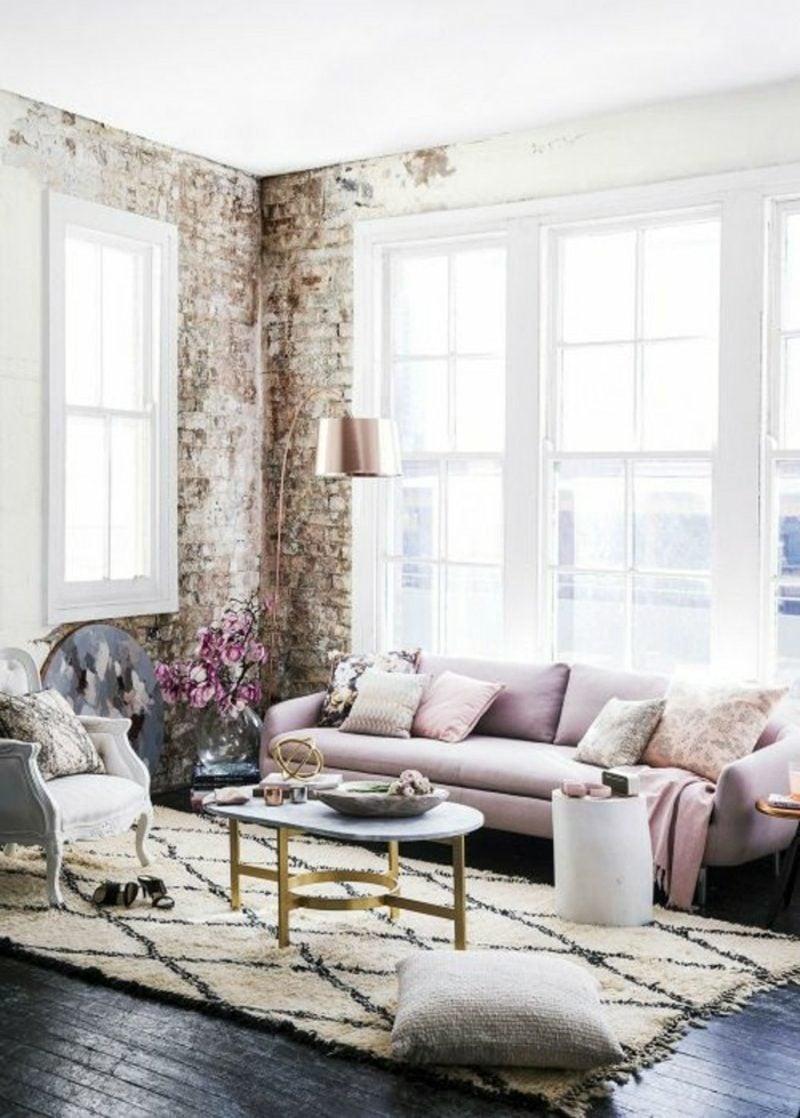 Wohnzimmer farblich gestalten Vintage Stil